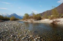 Paisagem do rio do verão Foto de Stock Royalty Free