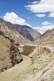 Paisagem do rio Jingsha em China Imagem de Stock