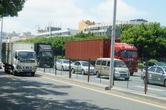 Paisagem do tráfego da estrada do nacional de Shenzhen 107 Fotografia de Stock Royalty Free