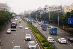 Paisagem do tráfego da seção de Baoan da autoestrada nacional de Shenzhen 107 Imagem de Stock