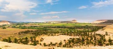 Paisagem do vale do monumento com céu azul Imagem de Stock Royalty Free