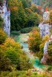Paisagem do vale no outono imagens de stock royalty free