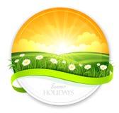 Bandeira do verão ilustração stock