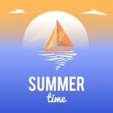 Paisagem do verão com texto do estilo Imagens de Stock