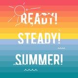 Paisagem do verão com tipografia do estilo Fotografia de Stock Royalty Free