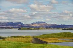 Paisagem do verão de Myvatn do lago Imagem de Stock Royalty Free