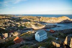 Paisagem do verão de Serene Scandinavian foto de stock