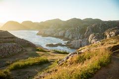 Paisagem do verão de Serene Scandinavian fotografia de stock royalty free