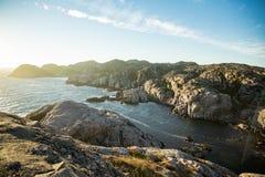 Paisagem do verão de Serene Scandinavian fotos de stock royalty free
