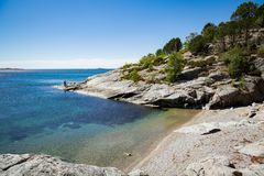 Paisagem do verão de Serene Scandinavian imagem de stock royalty free