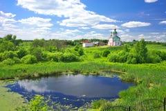 Paisagem do verão em Suzdal Imagens de Stock