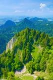 Paisagem do verão. A natureza res das montanhas de Pieniny fotografia de stock