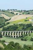 Paisagem do verão nos marços (Itália) Foto de Stock Royalty Free