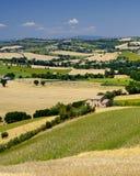 Paisagem do verão nos marços Itália perto de Ostra Fotografia de Stock Royalty Free