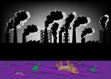 Paisagem do vetor ecològica ilustração stock