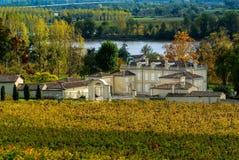 Paisagem do vinhedo de Fronsac, vinhedo sul a oeste de França Fotos de Stock Royalty Free