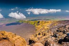 Paisagem do vulcão de Etna, Sicília, Itália Fotografia de Stock Royalty Free