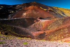 Paisagem do vulcão de Etna, Sicília, Itália Foto de Stock Royalty Free