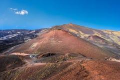 Paisagem do vulcão de Etna, Sicília, Itália Fotos de Stock
