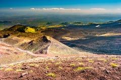 Paisagem do vulcão de Etna, Sicília, Itália Fotografia de Stock
