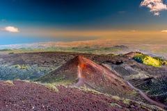 Paisagem do vulcão de Etna, Sicília, Itália Imagem de Stock