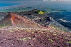 Paisagem do vulcão de Etna, Sicília, Itália Imagens de Stock Royalty Free