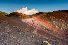 Paisagem do vulcão de Etna, Sicília, Itália Imagens de Stock