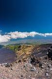 Paisagem do vulcão de Etna, Sicília, Itália Foto de Stock