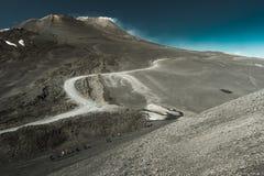Paisagem do vulcão de Etna, Sicília, Itália Imagem de Stock Royalty Free