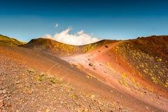 Paisagem do vulcão de Etna, Sicília, Itália Fotos de Stock Royalty Free