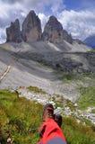 Paisagem Dolomity - Tre Cime di Lavaredo Fotos de Stock
