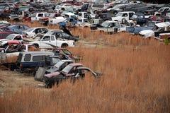 Paisagem dos carros da sucata Imagens de Stock Royalty Free