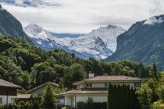 Paisagem dos cumes das montanhas imagens de stock royalty free