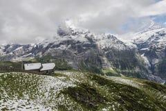 Paisagem dos cumes das montanhas fotos de stock