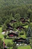 Paisagem dos cumes das montanhas em Suíça foto de stock
