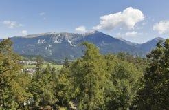 Paisagem dos cumes em Eslovênia Imagem de Stock