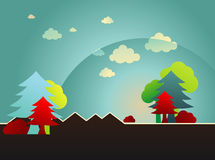 Paisagem dos desenhos animados Imagem de Stock Royalty Free