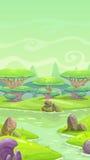 Paisagem dos desenhos animados da fantasia ilustração royalty free