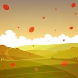 Paisagem dos desenhos animados do outono Imagem de Stock Royalty Free