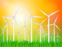 Paisagem dos geradores de vento Imagens de Stock Royalty Free