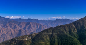 Paisagem dos Himalayas, Mussoorie Fotografia de Stock