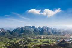Paisagem dos montes de Guilin Fotos de Stock