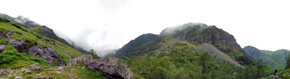 Paisagem dos montes verdes de Coe do vale Foto de Stock