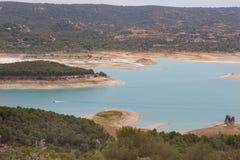 Paisagem dos reservatórios de Alcarria do La fotos de stock
