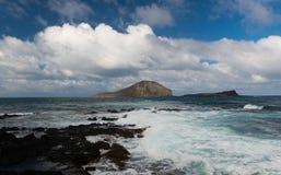 Paisagem dramática de Oahu, Havaí Imagens de Stock