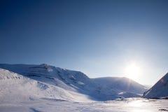 Paisagem dramática do inverno fotos de stock royalty free