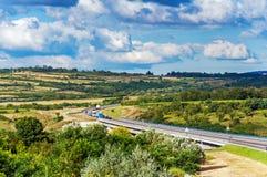 Paisagem e estrada Fotografia de Stock Royalty Free