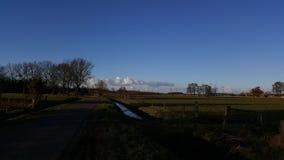 Paisagem e nuvens em holland Imagens de Stock