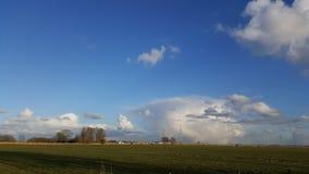 Paisagem e nuvens em holland Fotos de Stock Royalty Free