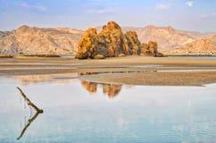 Paisagem e reflexão de Omã Fotos de Stock Royalty Free